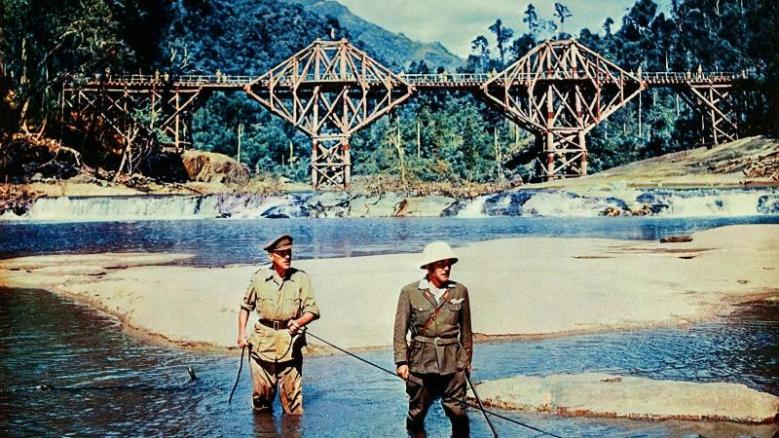 Alec Guinness, Jack Hawkins in Bridge on the River Kwai (1)